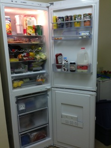 inside of fridge