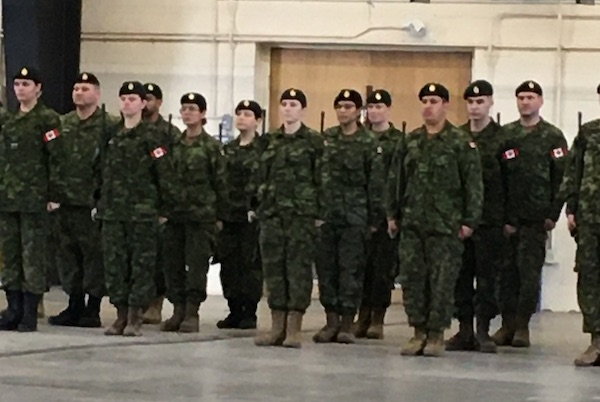 soldiers in uniform on parade
