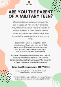 military family resiliance poster interviews