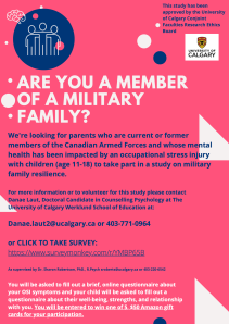 military family resiliance project poster with survey